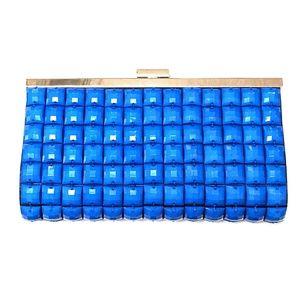 Le regale sm clutch w/lg blue beading both sides